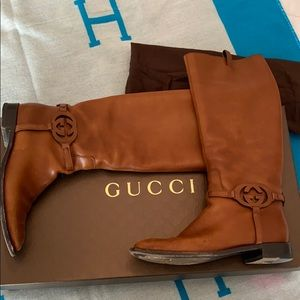 Gucci Sandle below the knee boots size 39.5